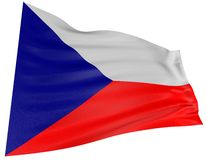 bandeira de 3D Checo Fotos de Stock