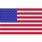 bandeira de 3D EUA Fotografia de Stock Royalty Free