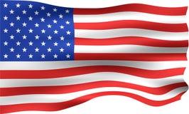 bandeira de 3D EUA Fotografia de Stock