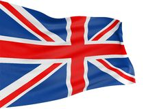 bandeira de 3D Reino Unido Fotos de Stock Royalty Free