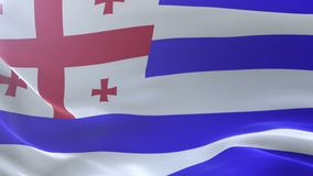 Bandeira de Ajaria que acena no mastro de bandeira no vento, símbolo nacional da liberdade ilustração royalty free