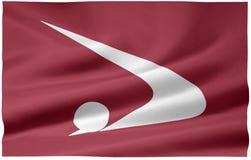 Bandeira de Akita - Japão Fotografia de Stock Royalty Free