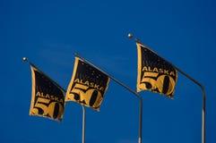 Bandeira de Alaska 50 anos de statehood Foto de Stock Royalty Free