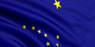 Bandeira de Alaska Fotos de Stock Royalty Free