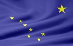 Bandeira de Alaska Fotografia de Stock