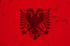 bandeira de Albânia imagens de stock