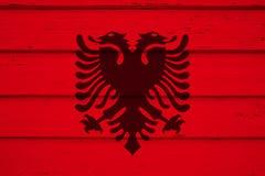 bandeira de Albânia fotografia de stock