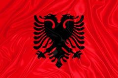 bandeira de Albânia fotografia de stock royalty free