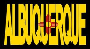 Bandeira de Albuquerque New mexico ilustração stock