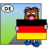 A bandeira de Alemanha Fotos de Stock Royalty Free