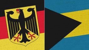 Bandeira de Alemanha e do Bahamas foto de stock royalty free