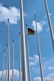 Bandeira de Alemanha em Berlim fotografia de stock