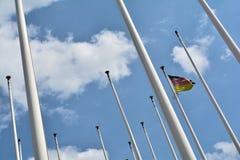 Bandeira de Alemanha em Berlim imagens de stock