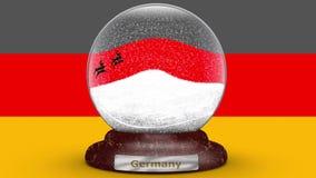 Bandeira de Alemanha no globo da neve ilustração stock