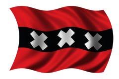 Bandeira de Amsterdão ilustração do vetor