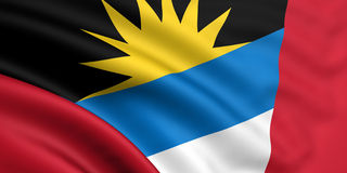 Bandeira de Antígua e de Barbuda Imagens de Stock