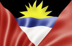 Bandeira de Antígua e de Barbuda Foto de Stock Royalty Free