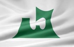 Bandeira de Aomori - Japão Fotos de Stock