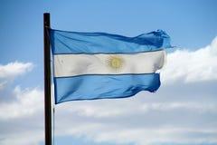 Bandeira de Argentina Fotografia de Stock Royalty Free