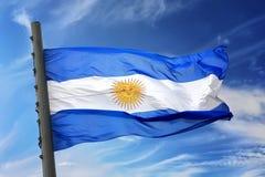 Bandeira de Argentina Fotografia de Stock