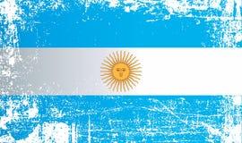 Bandeira de Argentina, Argentine Republic, pontos sujos enrugados ilustração royalty free