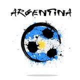 Bandeira de Argentina como uma bola de futebol abstrata fotografia de stock royalty free