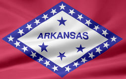 Bandeira de Arkansas Fotos de Stock