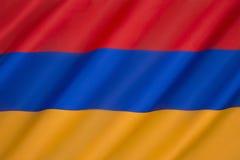 Bandeira de Arménia Imagens de Stock Royalty Free