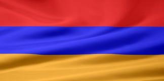 Bandeira de Arménia Fotografia de Stock