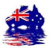 Bandeira de Austrália ilustração royalty free