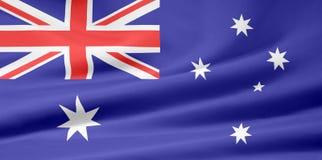 Bandeira de Austrália ilustração stock