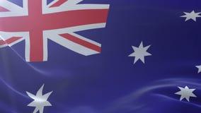 Bandeira de Austrália que acena no mastro de bandeira no vento, símbolo nacional da liberdade ilustração stock