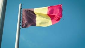 Bandeira de Bélgica Bandeira de Bélgica video estoque