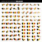 Bandeira de Bélgica, ilustração do vetor Imagem de Stock