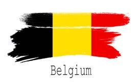 Bandeira de Bélgica no fundo branco Fotografia de Stock