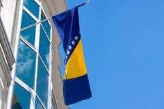 Bandeira de Bósnia e de Herzegovina Fotografia de Stock Royalty Free
