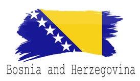 Bandeira de Bósnia e de Herzegovina no fundo branco Foto de Stock