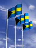 Bandeira de Bahamas Fotografia de Stock