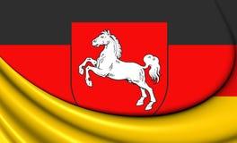 Bandeira de Baixa Saxónia, Alemanha Fotos de Stock Royalty Free