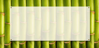 Bandeira de bambu Imagem de Stock Royalty Free