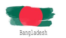 Bandeira de Bangladesh no fundo branco Fotografia de Stock