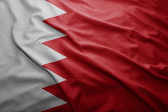 Bandeira de Barém Fotografia de Stock Royalty Free