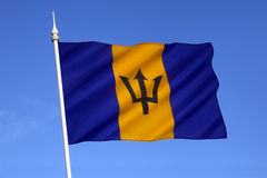 Bandeira de Barbados fotos de stock royalty free