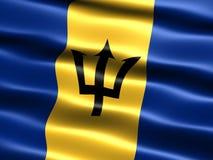 Bandeira de Barbados Fotografia de Stock