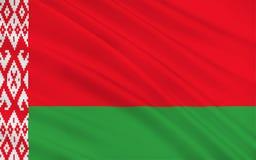 Bandeira de Belarus fotografia de stock