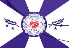 Bandeira de Belford Roxo Rio de janeiro State, Brasil Fotografia de Stock