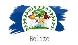 Bandeira de Belize no fundo branco Imagens de Stock