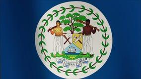 Bandeira de Belize que acena no vento Dar laços sem emenda 3d gerado ilustração stock