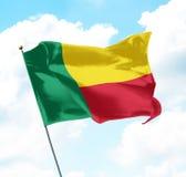 Bandeira de benin Foto de Stock