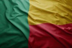 Bandeira de benin Foto de Stock Royalty Free